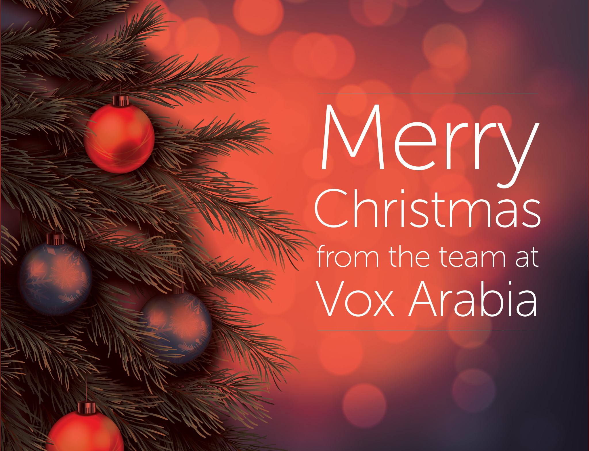 Merry Christmas from Vox Arabia | Arabic Voice Overs Portal